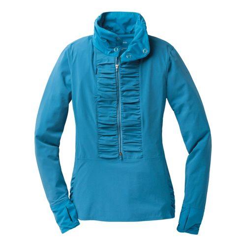 Womens Brooks Infiniti Anorak Long Sleeve 1/2 Zip Technical Tops - Heather Aurora XS