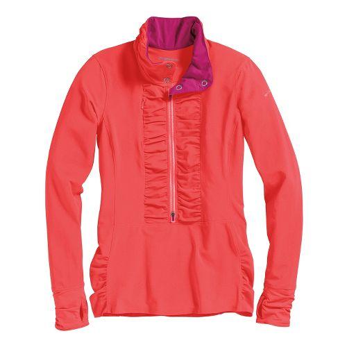 Womens Brooks Infiniti Anorak Long Sleeve 1/2 Zip Technical Tops - Poppy S