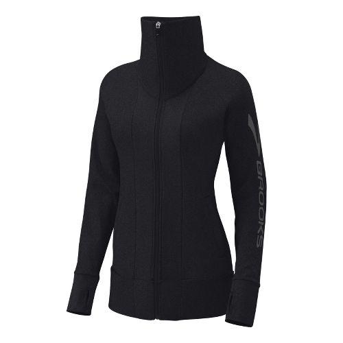 Womens Brooks Glycerin II Running Jackets - Black S