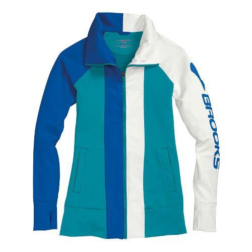 Womens Brooks Glycerin II Running Jackets - Caribbean/Electric XL