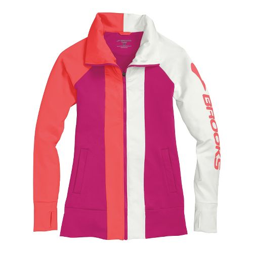 Womens Brooks Glycerin II Running Jackets - Fuchsia/Poppy M