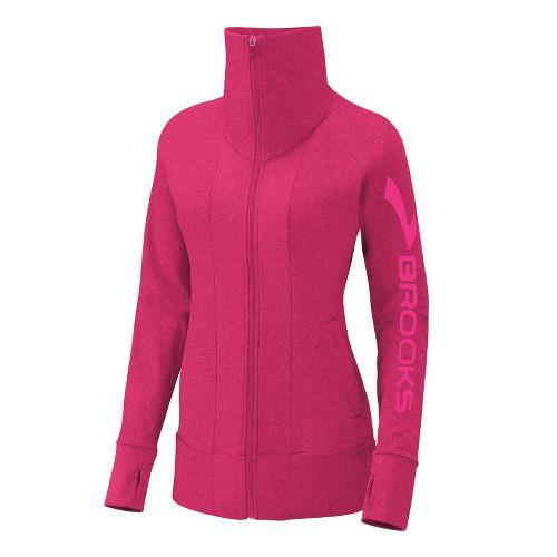 Womens Brooks Glycerin II Running Jackets - Pomegranate M