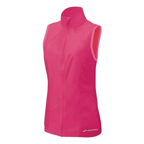 Womens Brooks LSD Lite Running Vests - Pomegranate/Brite Pink S