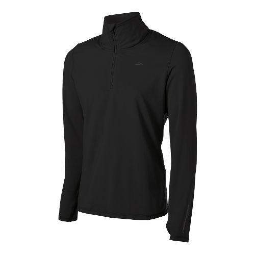 Mens Brooks Utopia Thermal Long Sleeve 1/2 Zip Technical Tops - Black XXL