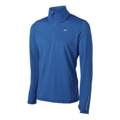Mens Brooks Utopia Thermal Long Sleeve 1/2 Zip Technical Tops - Galaxy/Midnight L