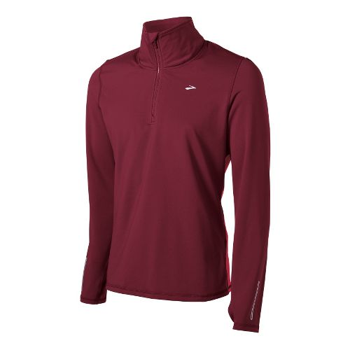 Mens Brooks Utopia Thermal Long Sleeve 1/2 Zip Technical Tops - Matador/Plasma S