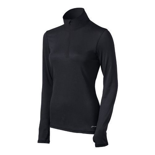 Womens Brooks Heater Hog Long Sleeve 1/2 Zip Technical Tops - Black L