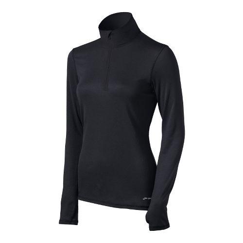 Womens Brooks Heater Hog Long Sleeve 1/2 Zip Technical Tops - Black XS