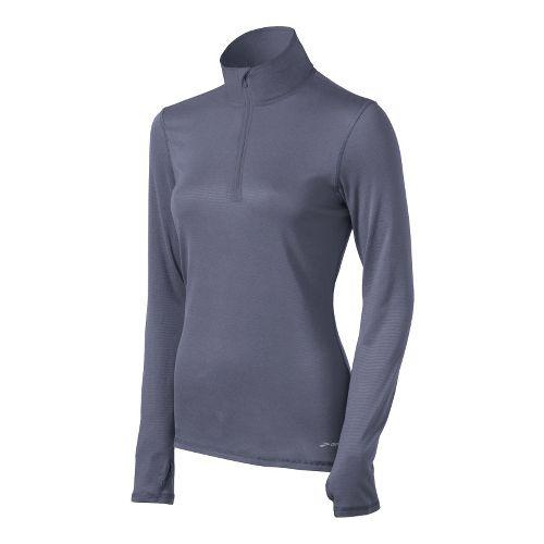 Womens Brooks Heater Hog Long Sleeve 1/2 Zip Technical Tops - Denim M