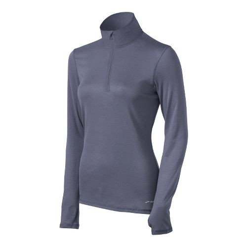 Womens Brooks Heater Hog Long Sleeve 1/2 Zip Technical Tops - Denim S