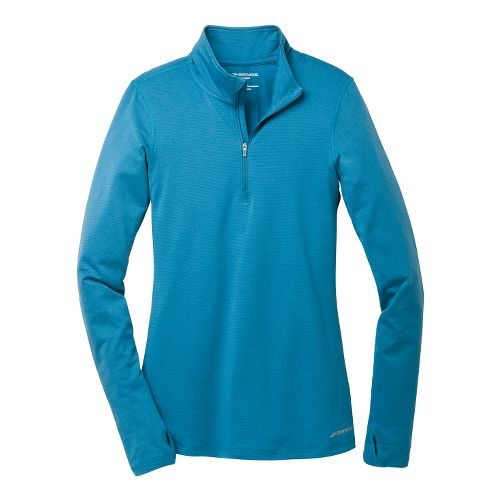 Womens Brooks Heater Hog Long Sleeve 1/2 Zip Technical Tops - Heather Aurora S