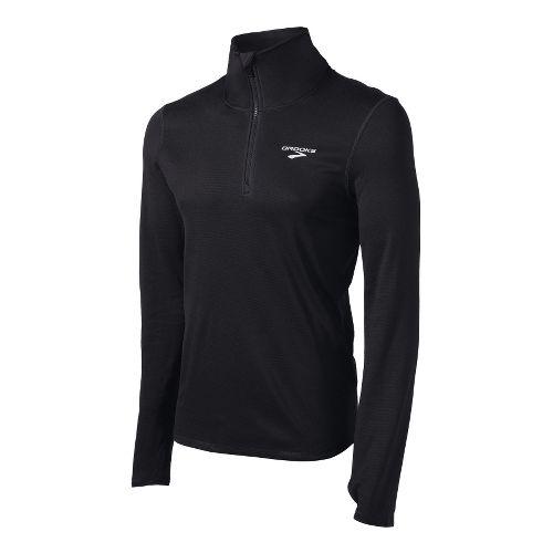 Mens Brooks Heater Hog Long Sleeve 1/2 Zip Technical Tops - Black XXL