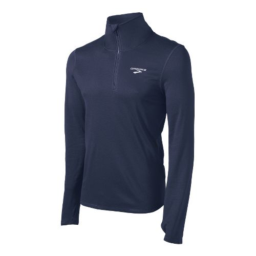 Mens Brooks Heater Hog Long Sleeve 1/2 Zip Technical Tops - Midnight S