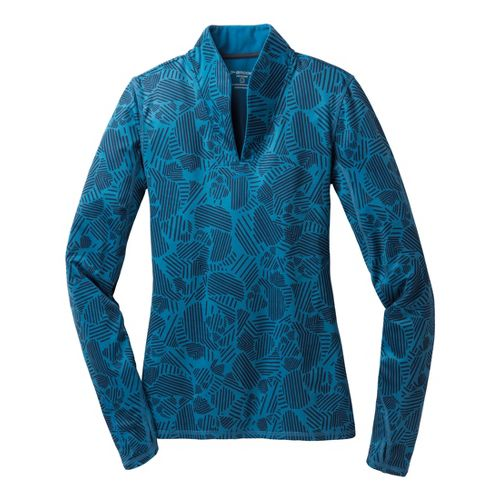 Womens Brooks Utopia Thermal Long Sleeve 1/2 Zip Technical Tops - Aurora S