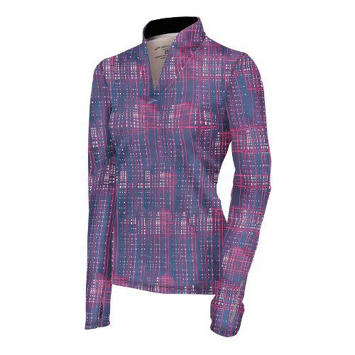 Womens Brooks Utopia Thermal Long Sleeve 1/2 Zip Technical Tops - Midnight Hatch XL
