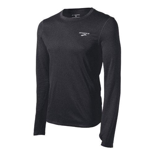 Mens Brooks Heater Hog Long Sleeve No Zip Technical Tops - Black S