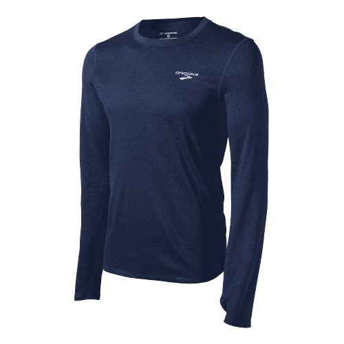 Mens Brooks Heater Hog Long Sleeve No Zip Technical Tops - Midnight XS