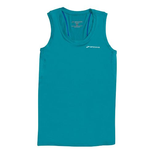 Womens Brooks Equilibrium Racerback II Tanks Technical Tops - Caribbean XS