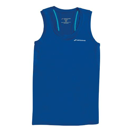 Womens Brooks Equilibrium Racerback II Tanks Technical Tops - Electric S