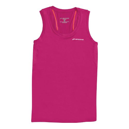 Womens Brooks Equilibrium Racerback II Tanks Technical Tops - Fuchsia XL