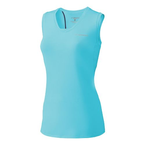 Womens Brooks Equilibrium Racerback II Tanks Technical Tops - Helium XS