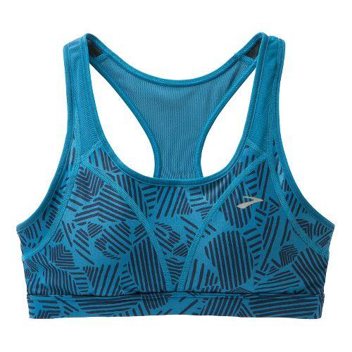 Womens Brooks Versatile Sports Bras - Aurora Woodblock/Aurora L