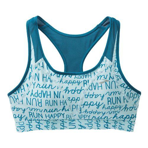 Womens Brooks Versatile Sports Bras - Breeze Run Happy/Heather Aurora S