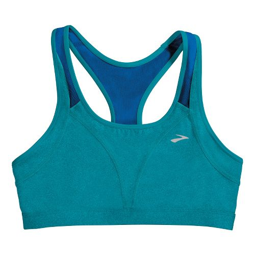 Womens Brooks Versatile Sports Bras - Heather Caribbean/Electric L