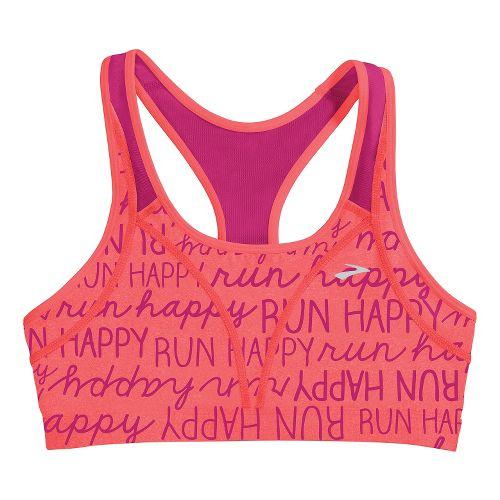Womens Brooks Versatile Sports Bras - Poppy Run Happy/Fuchsia M