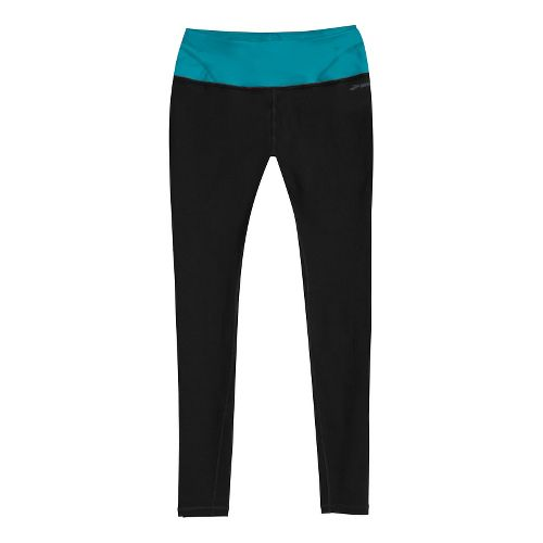 Womens Brooks Infiniti III Fitted Tights - Black/Caribbean S