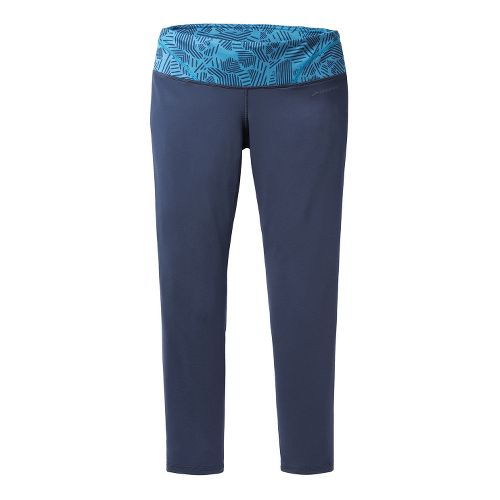Womens Brooks Infiniti III Fitted Tights - Midnight/Aurora S