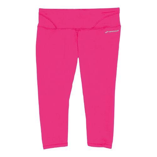 Womens Brooks Infiniti III Capri Tights - Brite Pink XS