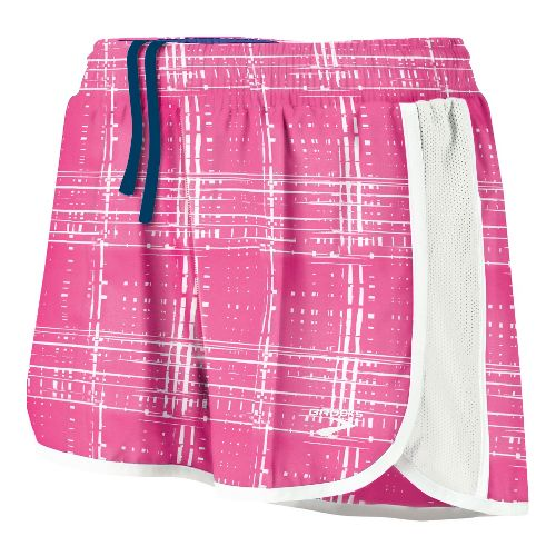 Womens Brooks Epiphany Stretch II SE Splits Shorts - Brite Pink Hatch XS