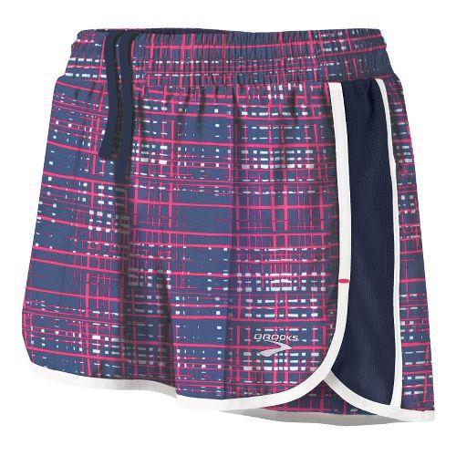 Womens Brooks Epiphany Stretch II SE Splits Shorts - Midnight Hatch/Midnight S