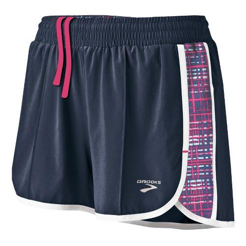 Womens Brooks Epiphany Stretch II SE Splits Shorts - Midnight/Midnight Hatch M