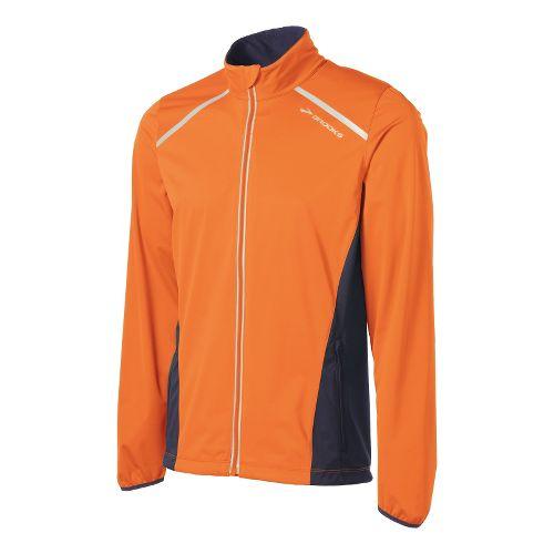 Mens Brooks Infiniti IV Running Jackets - Brite Orange/Anthracite XL