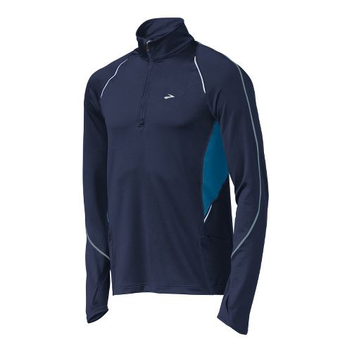 Mens Brooks Infiniti Long Sleeve 1/2 Zip Technical Tops - Midnight/Galaxy M