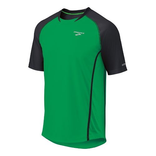 Mens Brooks Pro Train Short Sleeve Technical Tops - Fern/Black L