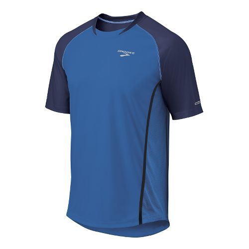 Mens Brooks Pro Train Short Sleeve Technical Tops - Galaxy/Midnight L