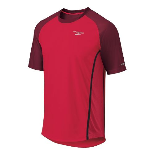 Mens Brooks Pro Train Short Sleeve Technical Tops - Plasma/Matador XL