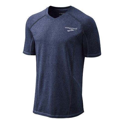 Mens Brooks Essential Short Sleeve Technical Tops - Midnight S