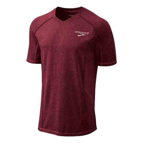 Mens Brooks Essential Short Sleeve Technical Tops - Matador L