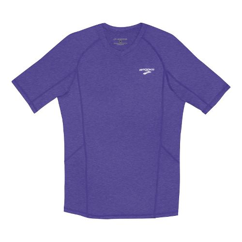 Mens Brooks Essential Short Sleeve Technical Tops - Prince L