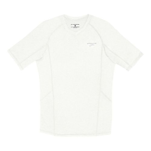Mens Brooks Essential Short Sleeve Technical Tops - White XL
