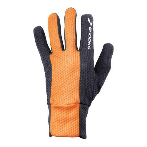 Brooks Pulse Lite Glove II Handwear - Anthracite/Brite Orange L