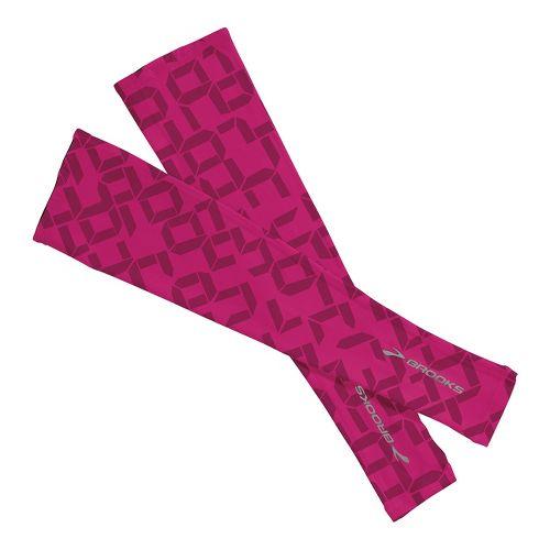 Brooks Race Day Armwarmer Handwear - Fuchsia Digi Print XS/S