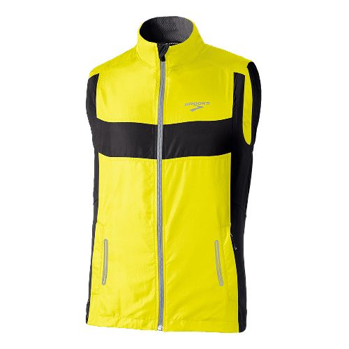 Mens Brooks Nightlife Essential II Running Vests - Yellow XXL