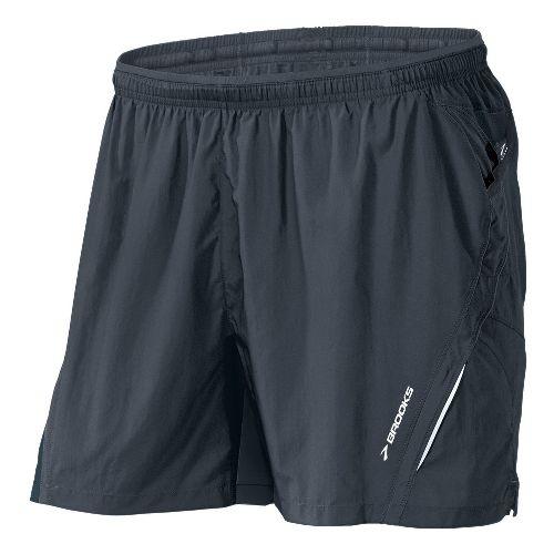 Mens Brooks Infiniti Notch II Lined Shorts - Asphalt XXL