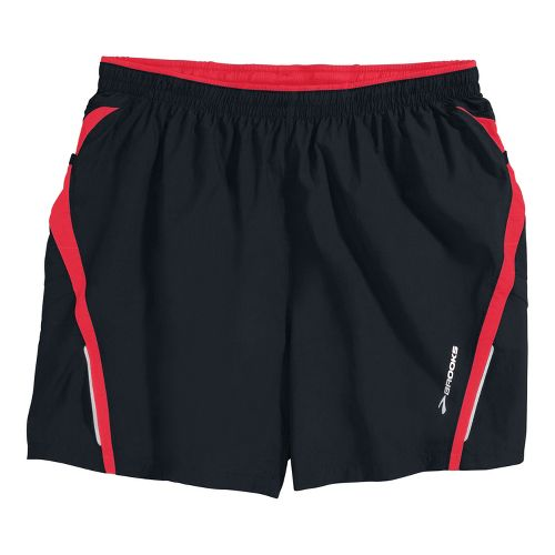 Mens Brooks Infiniti Notch II Lined Shorts - Black/Americana S