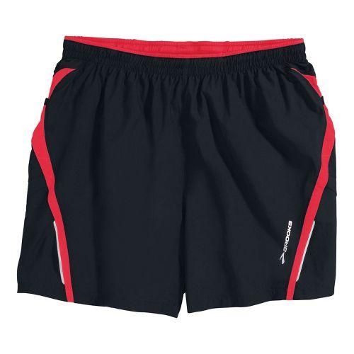 Mens Brooks Infiniti Notch II Lined Shorts - Black/Americana XL